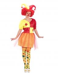 Kaarten clown kostuum voor vrouwen