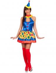 Glanzend clown kostuum voor vrouwen