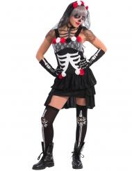 Sexy Dia de los Muertos skelet kostuum voor vrouwen