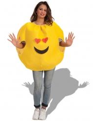 Verliefde emoticon kostuum voor volwassenen