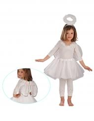 Witte en zilverkleurige engelen set voor meisjes