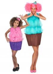 Cupcake koppelkostuum voor moeder en dochter
