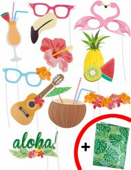 Hawaii photobooth set met 10 delen