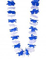 Blauwe en witte supporter Hawaii ketting voor volwassenen