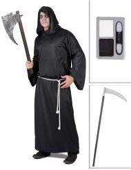 Reaper kostuum pack met zeis en schmink voor volwassenen