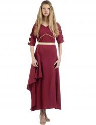 Bordeaxurood Romeins kostuum voor vrouwen