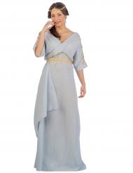 Blauwe Romeinse prinses kostuum voor vrouwen