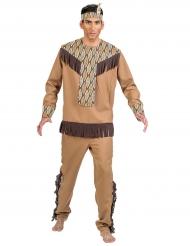 Indianen kostuum met blaadjes patroon voor mannen