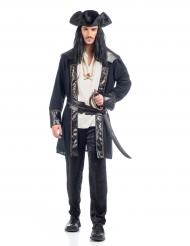 Zwart piraten kostuum voor mannen