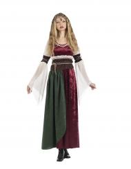 Middeleeuws prinsessenkostuum voor vrouwen