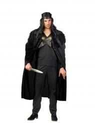 Zwarte strijder cape voor mannen