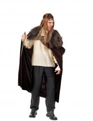 Bruine strijder cape voor mannen