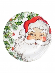 8 kartonnen kerstman borden