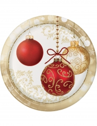 8 kartonnen kerstballen borden