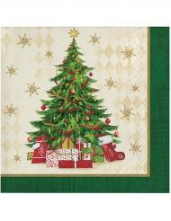 16 papieren kerst servetten