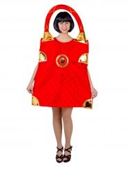 Rode handtas kostuum voor vrouwen