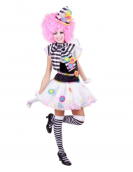 Veelkleurig clown kostuum voor vrouwen