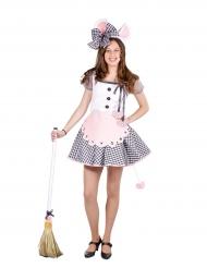 Muizen schoonmaakster kostuum voor vrouwen