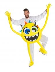 Geel maf monster kostuum voor volwassenen