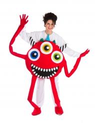 Rood monster kostuum voor volwassenen