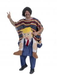Mexicaan op de rug van een president kostuum voor volwassenen
