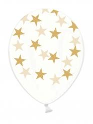 6 doorzichtige latex sterren ballonnen