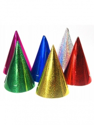 20 holografische kleurrijke feesthoedjes