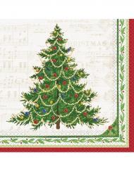 16 papieren kerst boom servetten