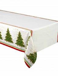 Plastic tafelkleed met kerstboom 137 x 213 cm