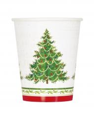 8 kartonnen kerstboom bekers