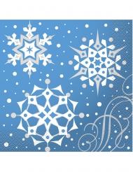 16 papieren kerst sneeuwvlokken servetten
