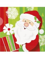 16 kerstman servetten 25x25 cm