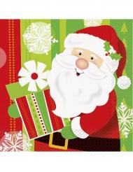 16 kerstman servetten 33x33 cm