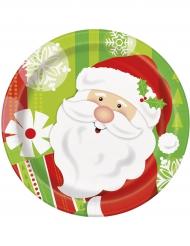 8 kleine kartonnen kerstman borden