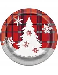 8 kartonnen kerstboom borden