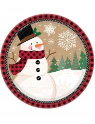 8 kleine sneeuwpop borden