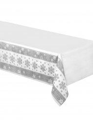 Papieren tafelkleed met sneeuwvlokken 137 x 259 cm