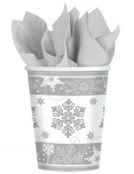 8 kartonnen sneeuwvlokken bekers