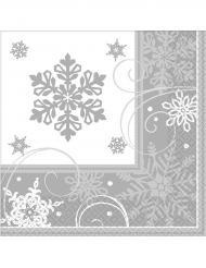 16 papieren sneeuwvlok servetten