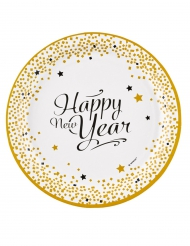 8 bordjes Happy New Year