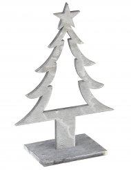 Grijze houten kerstboom
