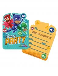 6 PJ Masks™ uitnodigingen