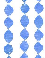 Blauwe papieren slinger met franjes
