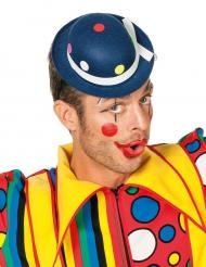 Clown hoed met blauwe stippen voor volwassenen