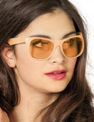 Oranje fosforescerende bril voor volwassenen