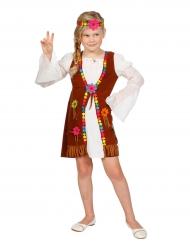 Wit miss hippie kostuum voor meisjes