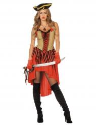 Rood piraten kostuum voor vrouwen