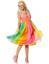 Regenboog jaren 60 kostuum voor vrouwen