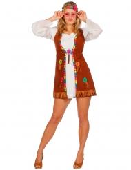 Wit miss hippie kostuum voor vrouwen
