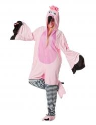 Roze flamingo pak voor volwassenen
